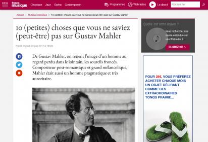 Un article de France Musique