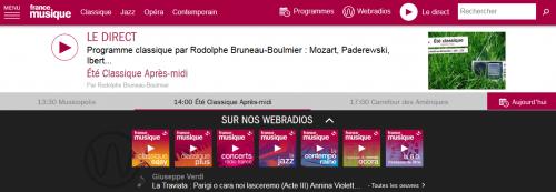 Page d'accueil de France Musique