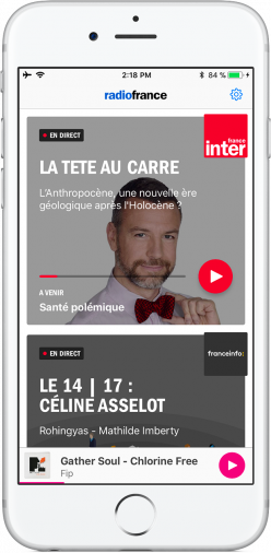 La nouvelle application RadioFrance