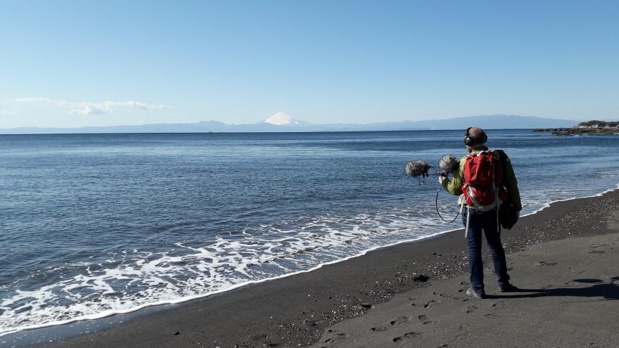 Frédéric Changenet en face du mont Fuji